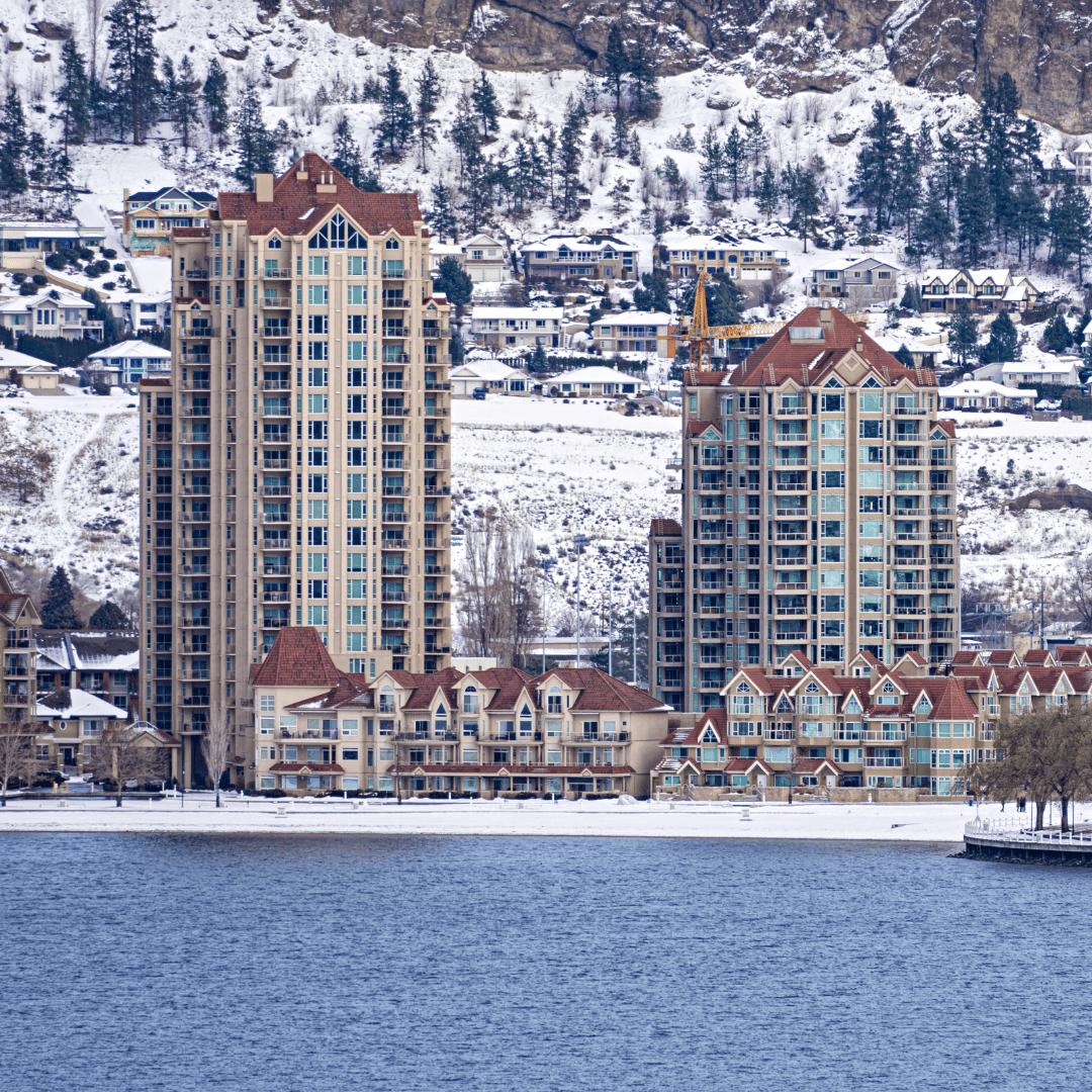 Okanagan lakefront property homes and apartments